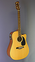 Billy Ray Westerngitarre, Dreadnought Form, Sitka-Fichte, Mahagoni, Cutaway, Pickup