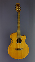James Neligan Westerngitarre Mini-Jumbo-Form, Mahagoni, Pickup, Cutaway