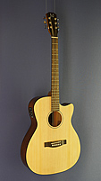 James Neligan Westerngitarre Mini-Jumbo-Form, Fichte, Mahagoni, Pickup, Cutaway