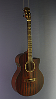 James Neligan Westerngitarre Mini-Jumbo-Form, Mahagoni, bourbon burst Pickup, Cutaway
