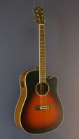 James Neligan Westerngitarre Dreadnought-Form, Zeder, Mahagoni, Cutaway, sunburst, Pickup