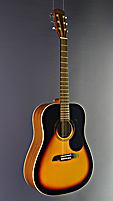 Kirkland Folkgitarre Dreadnought Form, Fichte, Mahagoni, sunburst Finish