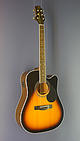 Greg Bennett Westerngitarre Dreadnought Form, Cutaway, Pickup, sunburst
